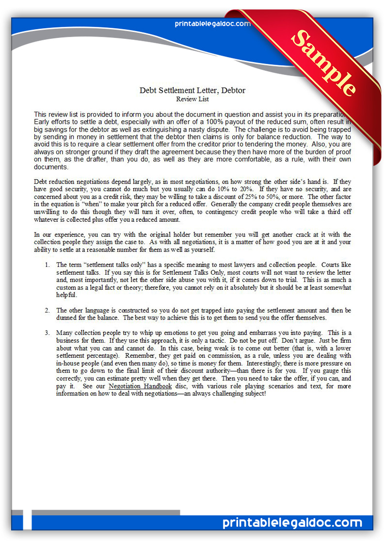 settlement offer letter template .