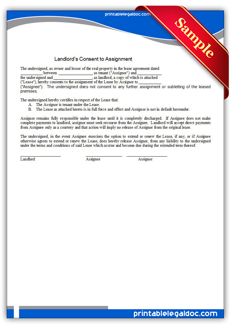 consent to assignment of agreement