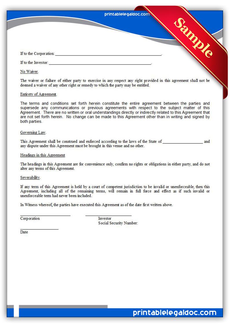 Free Printable Private Placement Memorandum Form GENERIC – Sample Private Placement Memorandum