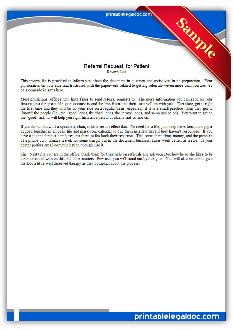 Printable-Referral-Requestfor-Patient2-Form Power Of Attorney Form Generic on free printable pdf, how fill out, blank medical, new york state, indiana durable, virginia durable,