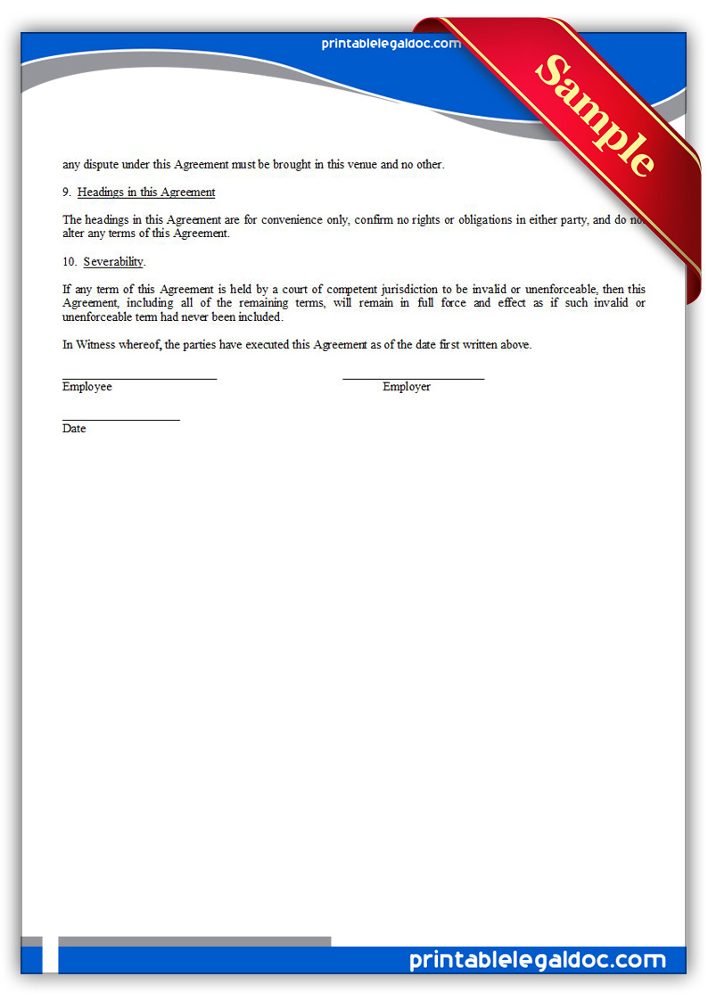 Free Printable Tuition Reimbursement Agreement Form (GENERIC)