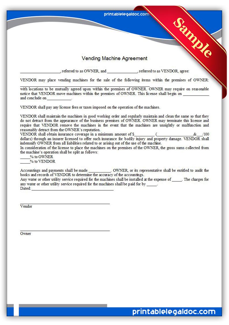 vending machine contract pdf