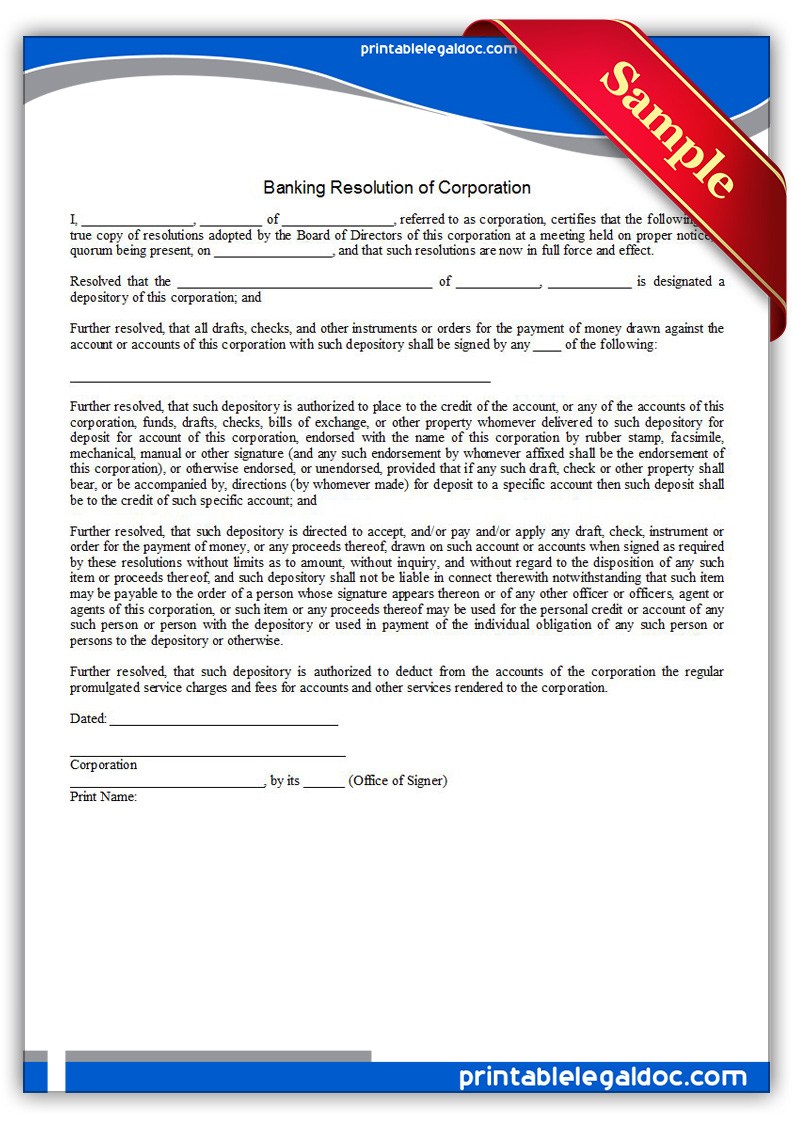 Printable-Banking-Resolution-of-Corporation-Form