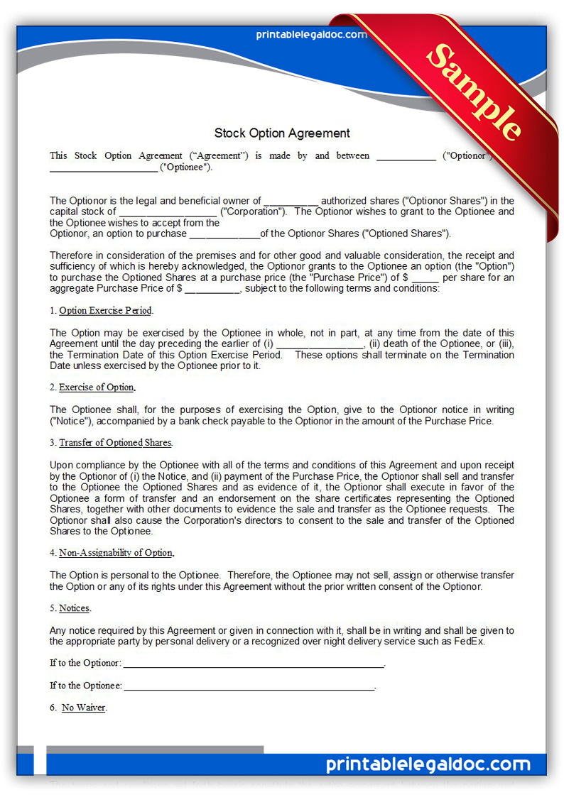 Printable-Stock-Option-Agreement-Form