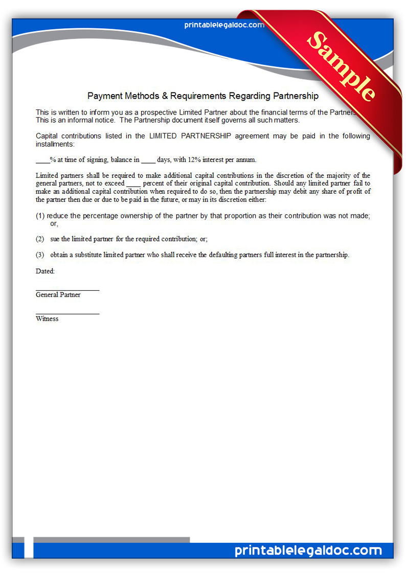 Printable-Payment-Methods-&-Requirements-Regarding-Partnership-Form