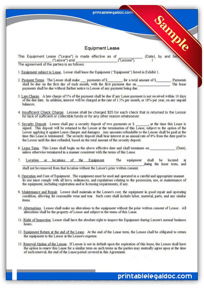Printable-Equipment-Lease-Form