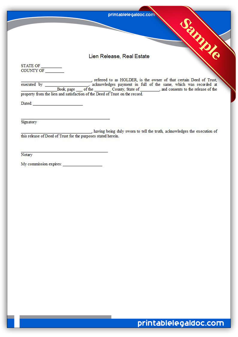 Printable-Lien-Release,-Real-Estate-Form