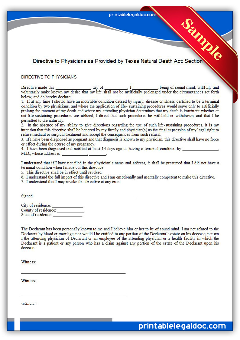 Printable-Life-Sustaining-Statute,-Texas-Form