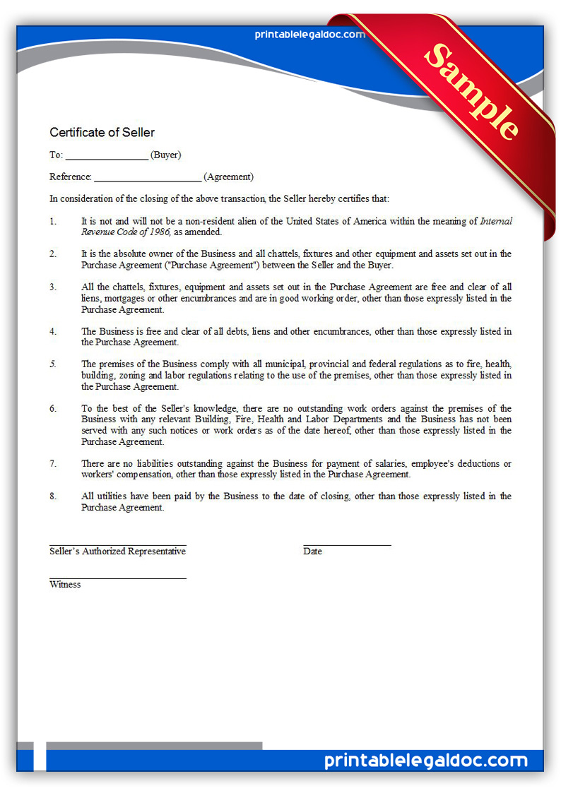Printable-Certificate-of-Seller-Form