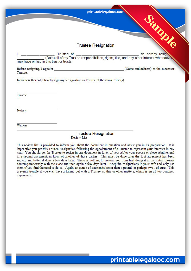 Printable-Trustee-Resignation-Form