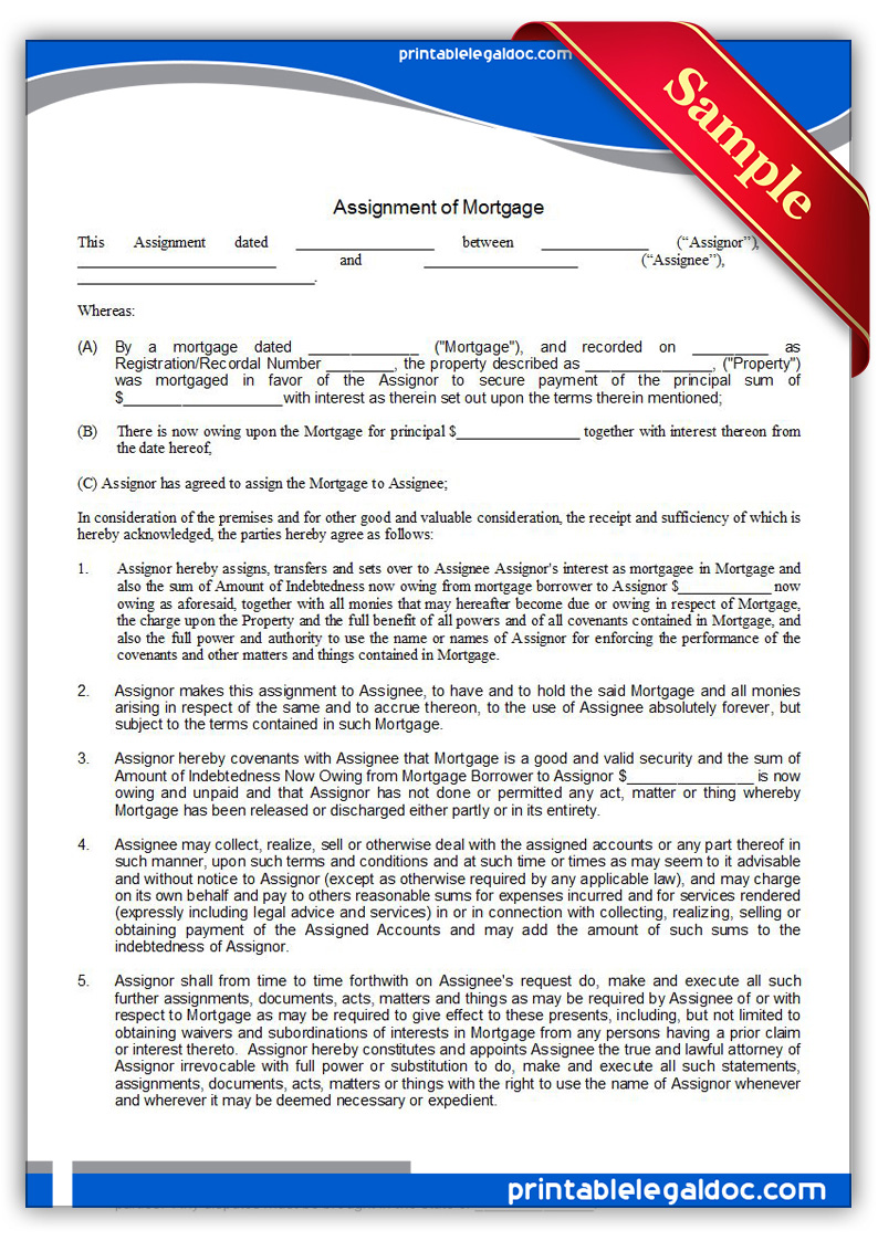 Printable-Assignment-of-Mortgage-Form