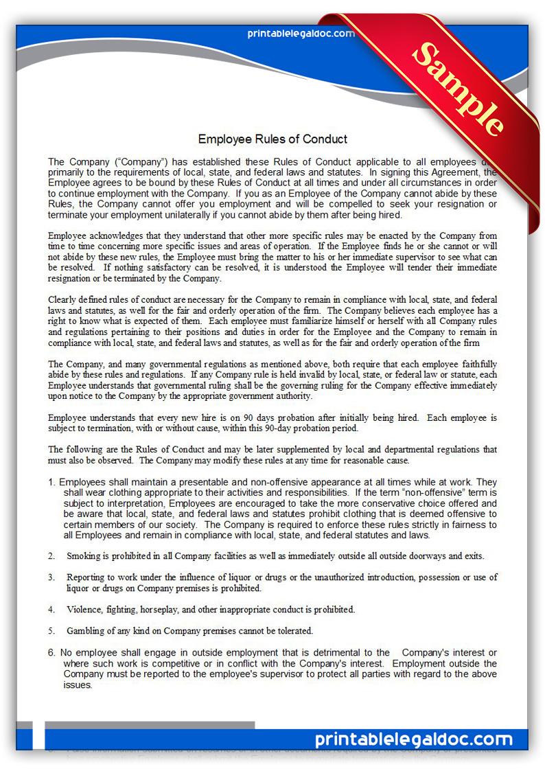 Printable-Employee-Rules-of-Conduct-Form