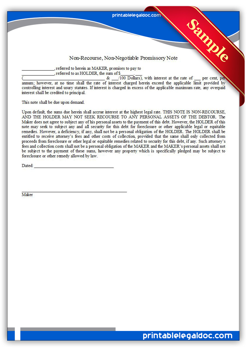 Printable-Note,-Non-recourse-&-Non-negotiable-Form