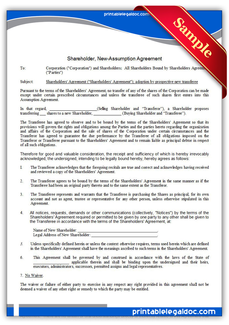 Printable-Shareholder,-New--Assumption-Agreement-Form