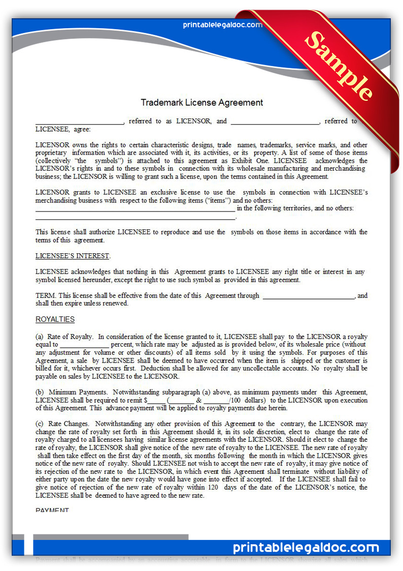 Printable-Trademark-License-Agreement-Form