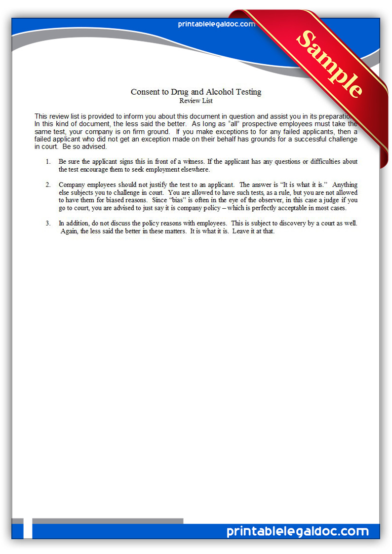 Printable-Drug-and-Alcohol-Testing,-Applicant-Consent2-Form