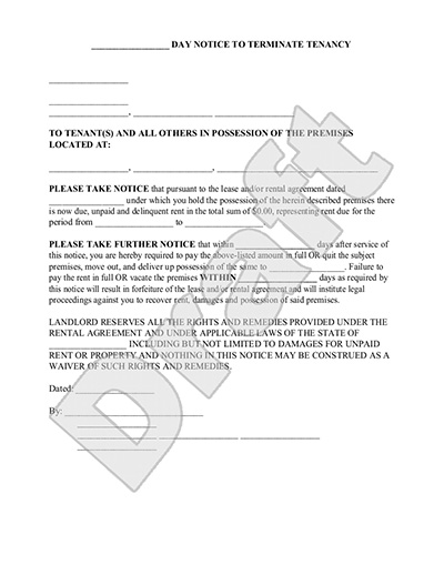 Free Printable Intent to vacate letter Template Vacate Notice – Intent to Vacate Letter