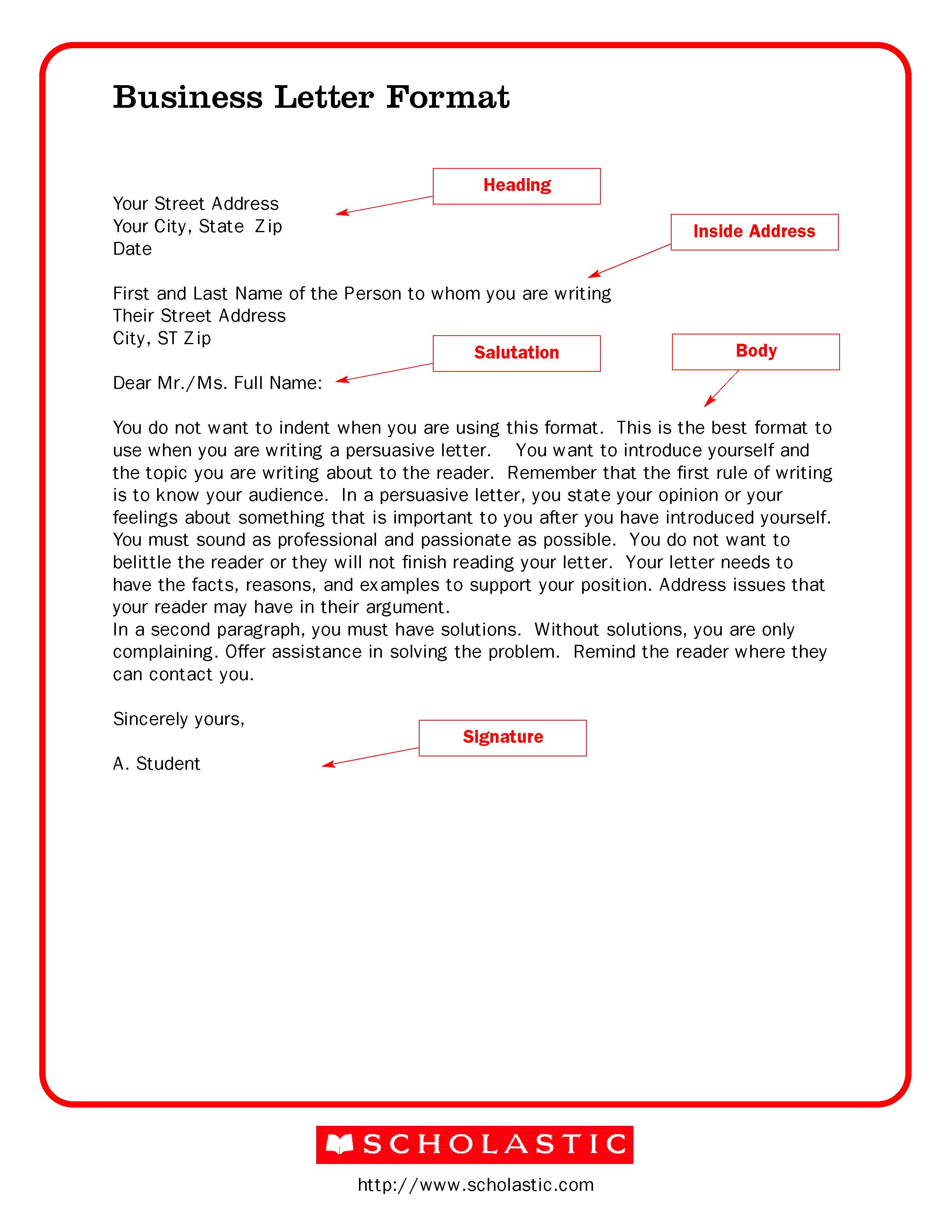 Business letter format letterhead sample friedricerecipe Images