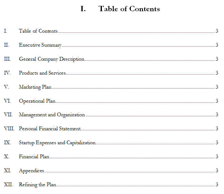 school business plan format