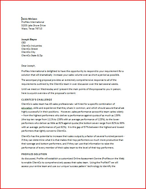 business proposal - Business Proposal Template