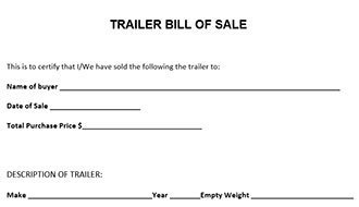 Free Printable Camper Bill of Sale Form Free Form (GENERIC)