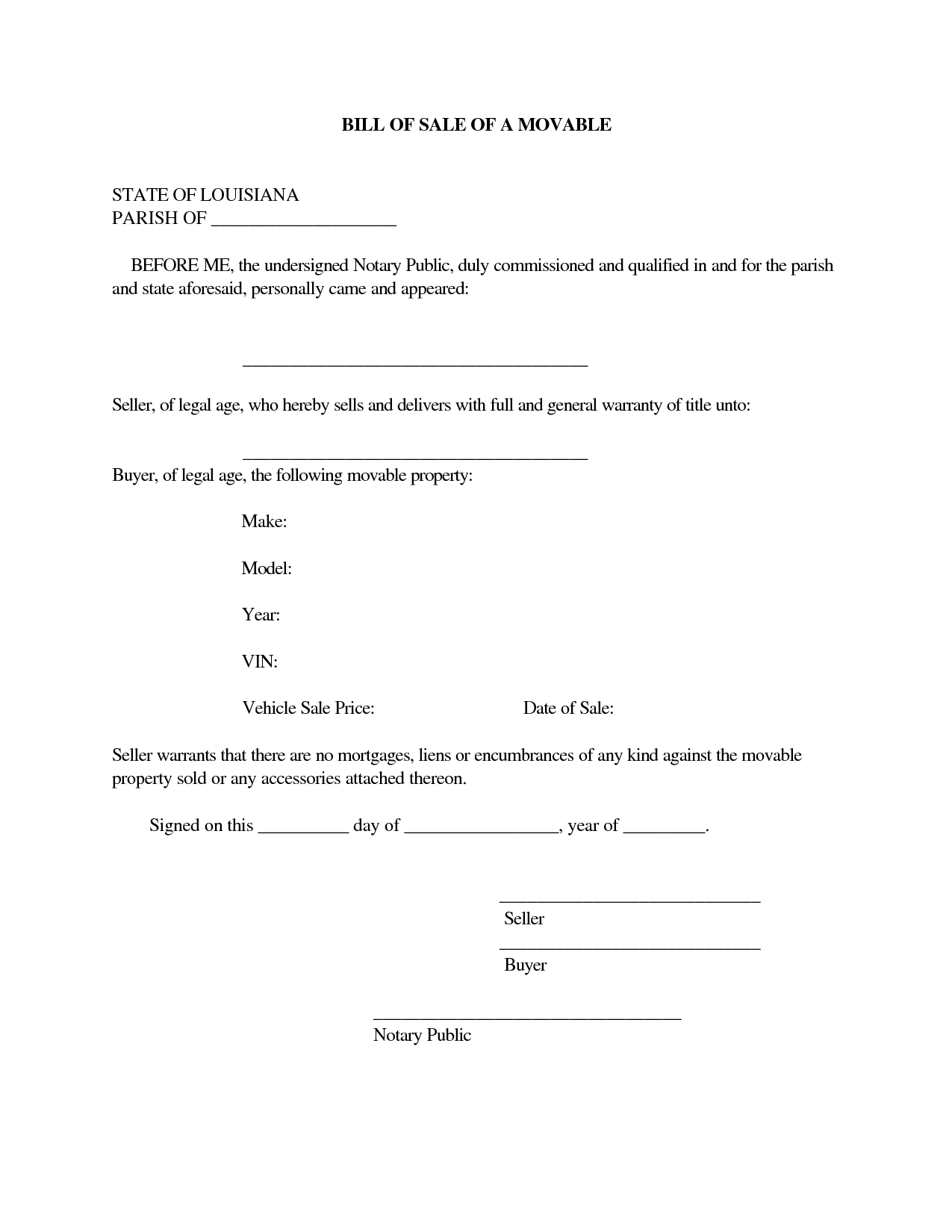 lastest free printable rv bill of sale form form generic