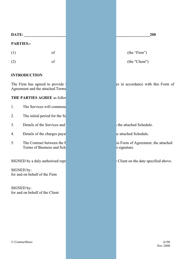 Free Printable It Services Contract Form Generic