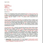 A Letter of Intent
