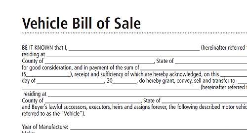 Free Printable Bill Of Sale Form Form GENERIC – Bill of Sales Forms