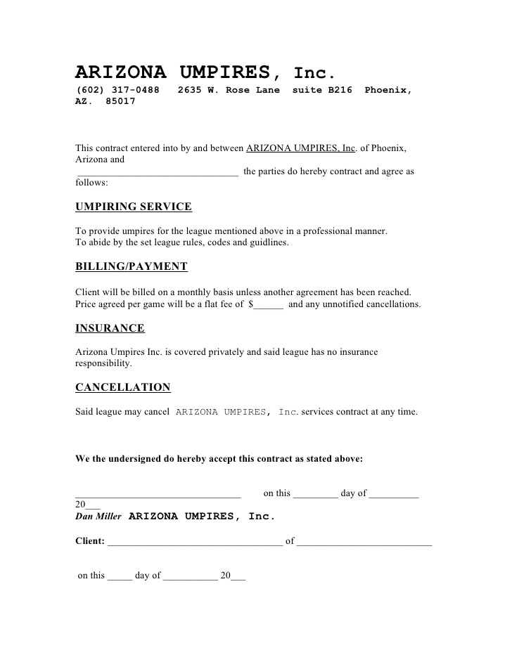 Free printable cleaning contract template form generic for Janitorial service contract template