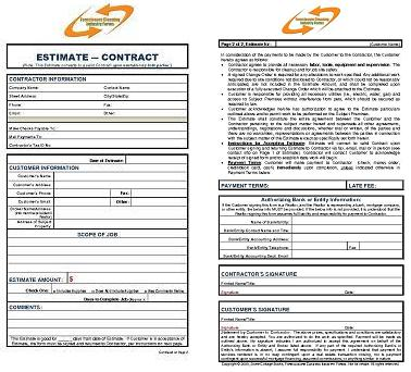 Free Printable Cleaning Contract Template Form (Generic)