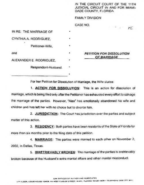 Divorce Notice Format