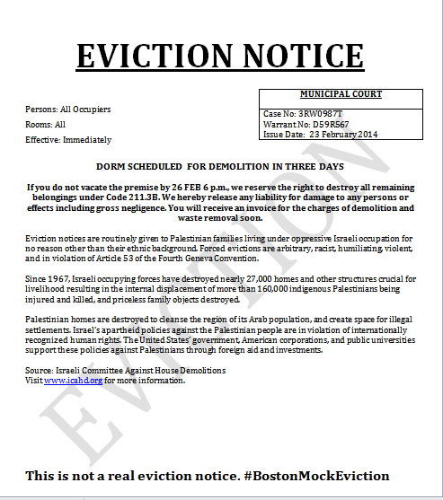 eviction notice eviction notice
