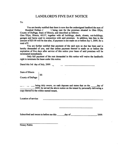 Free Printable Eviction Notice Form GENERIC – Tenant Eviction Notice Form