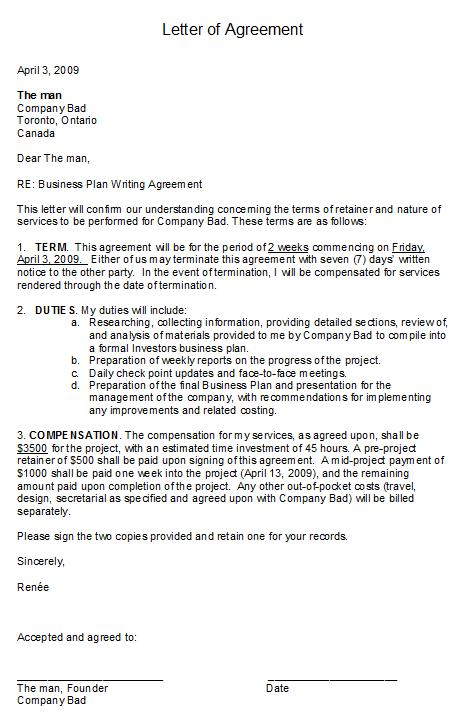 Freelance Letter Of Agreement Image Collections Agreement Letter