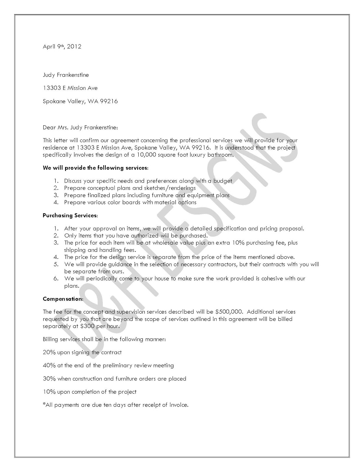 Free printable letter of agreement form generic letter of agreement pronofoot35fo Gallery