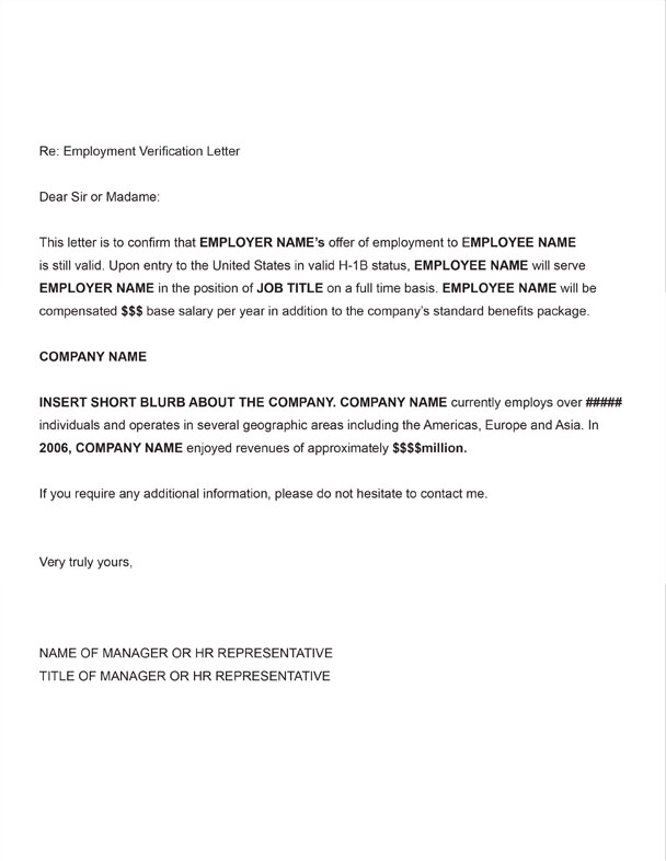 free printable letter of employment verification form