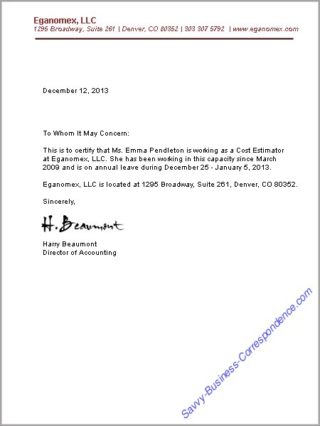 employee verification letter sample Parlobuenacocinaco