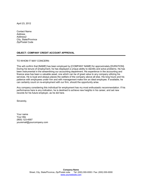 Sample Employment Reference Letter Doc Free Printable Letter Of Employment Verification Form
