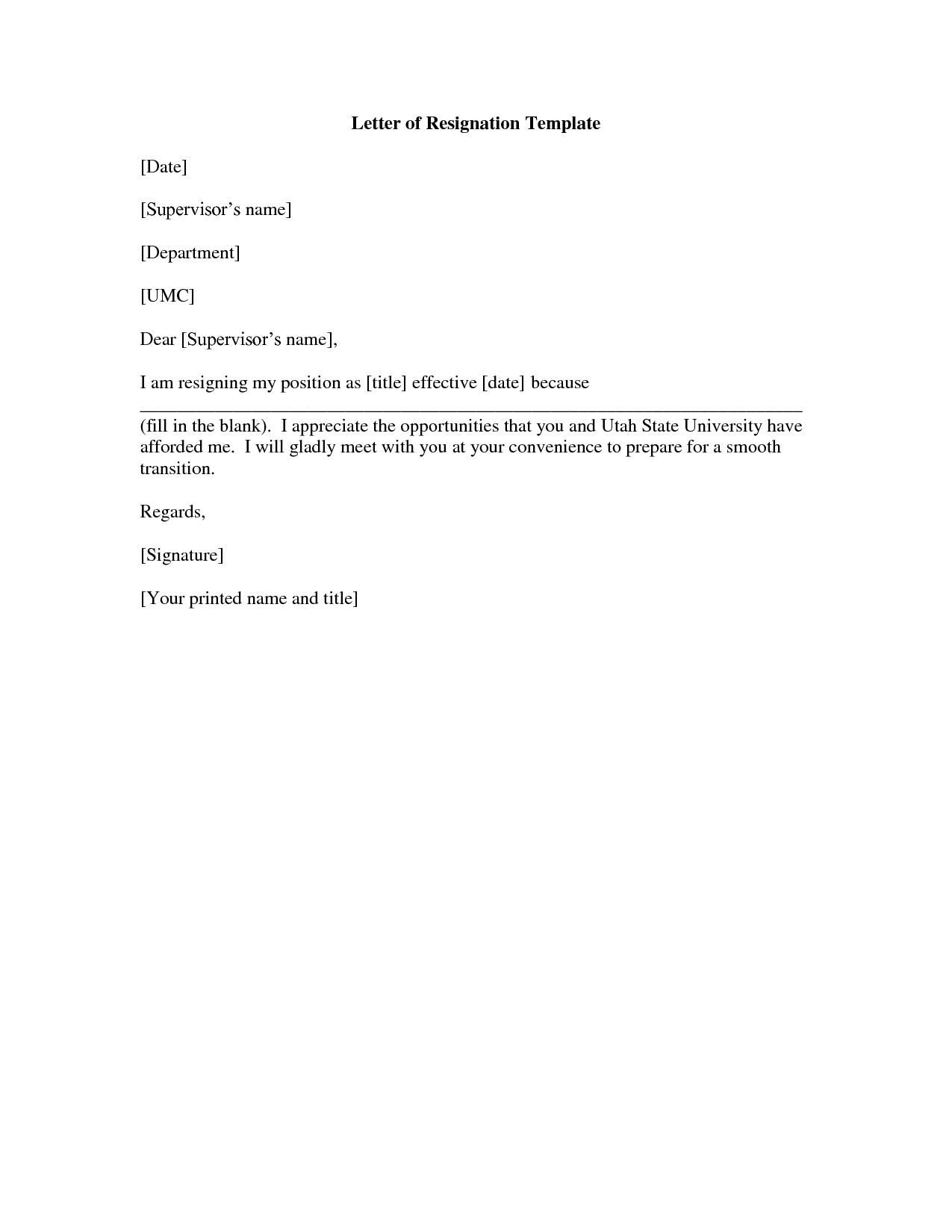 letter of resignation template target printable letter of resignation form generic 5emdqgo1