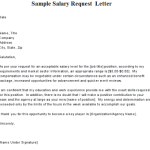 letter of salary