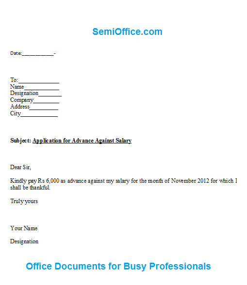 Request For Salary Increase Letter – Request for Salary Increase Letter