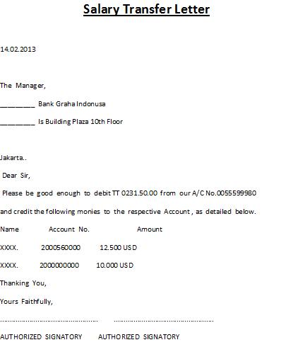 Sample request letter for salary transfer certificate cover sample request letter for salary transfer certificate cover yadclub Gallery
