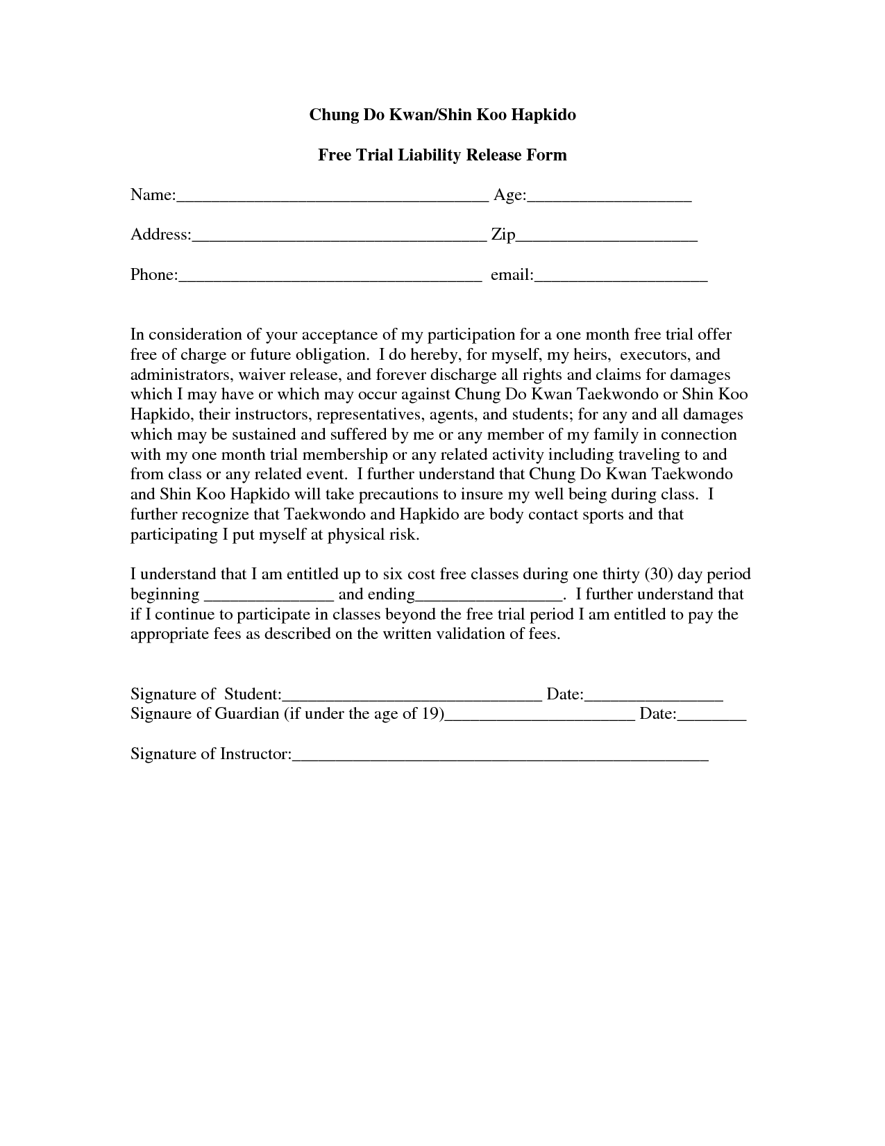 liability waiver form template | datariouruguay