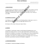 liability release form sample