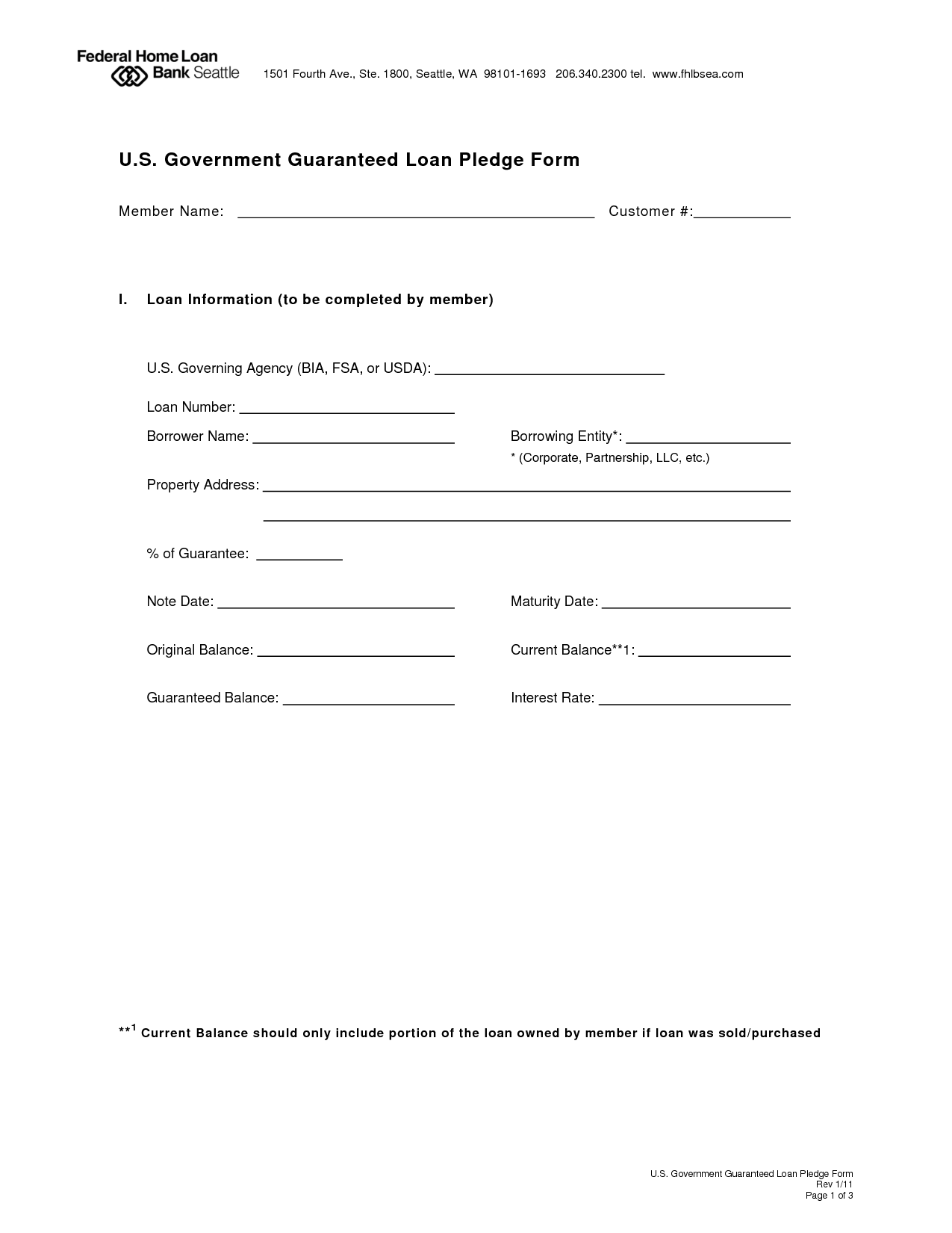 printable agreement form – Loan Forms Template