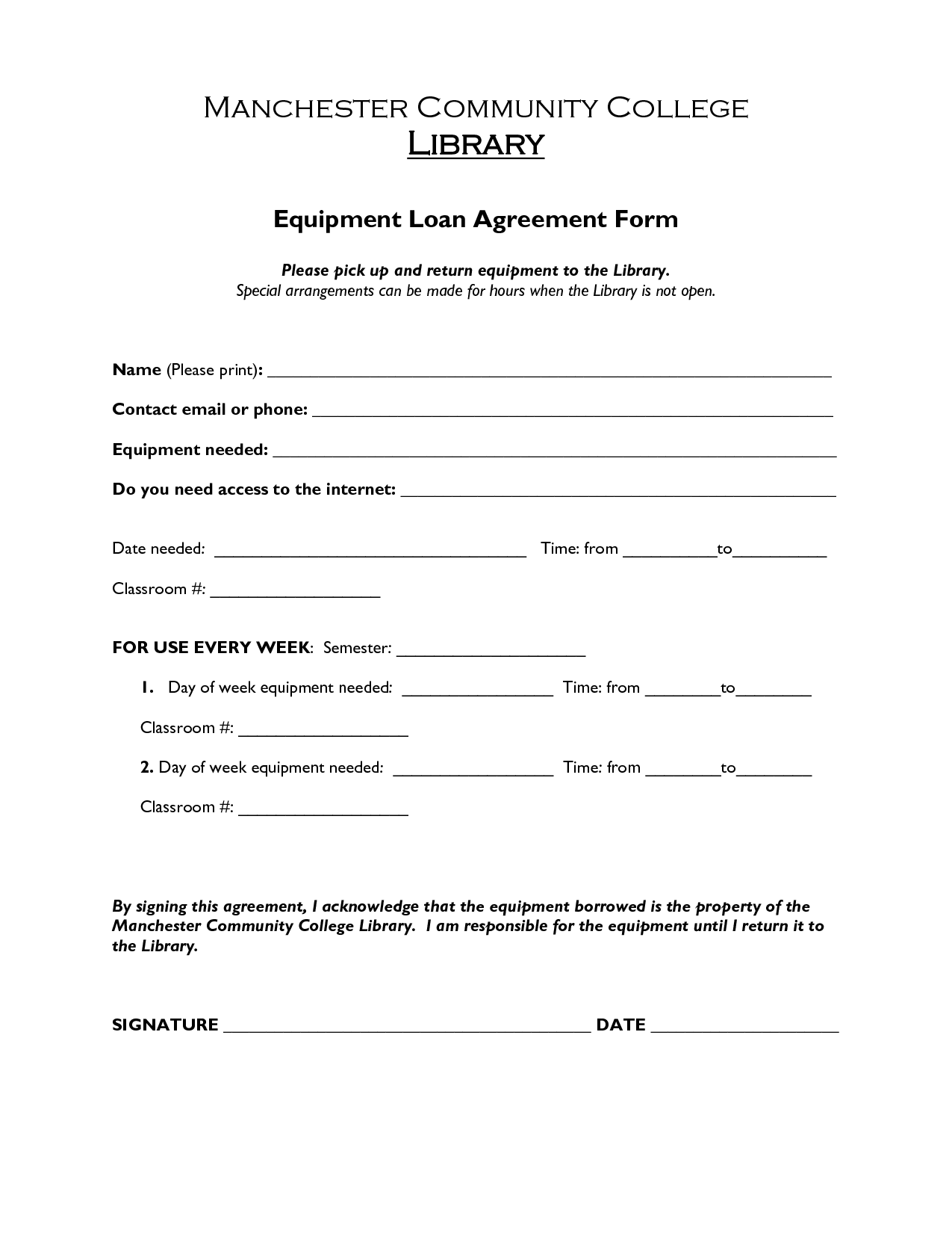 ... Loan Agreement Form ...