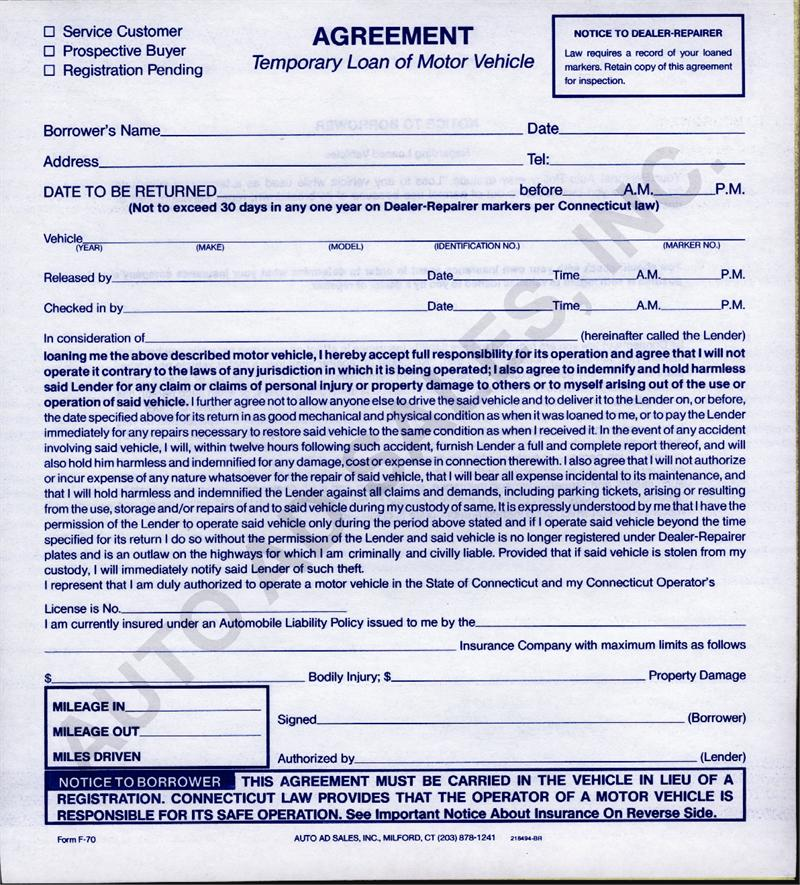 Free Printable Loan Agreement Form Form Generic
