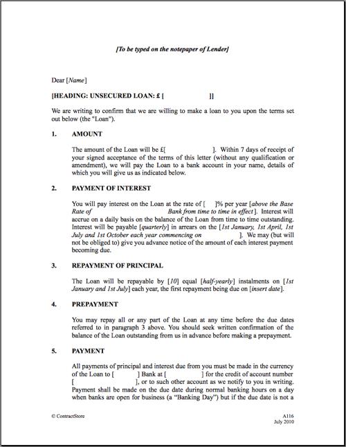 Loan Agreement Form ...