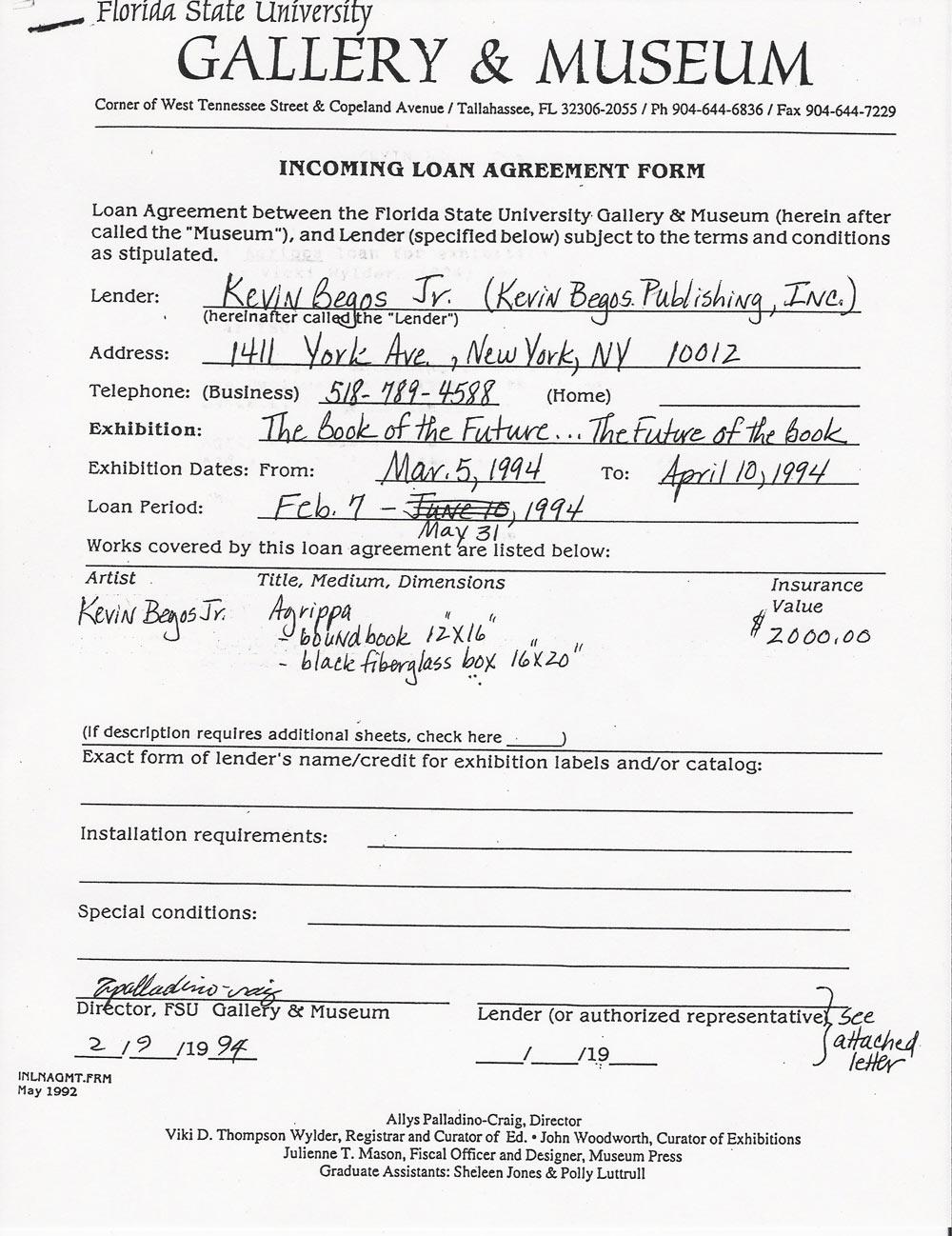 ... Loan Document ...  Free Loan Documents